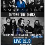 AMARANTHE – concerto al Live Club a dicembre con i BEYOND THE BLACK