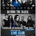 AMARANTE + BEYOND THE BLACK, concerto spostato ad aprile 2021