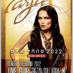 Rimandato al 2022 lo show di Tarja Turunen al Live Club