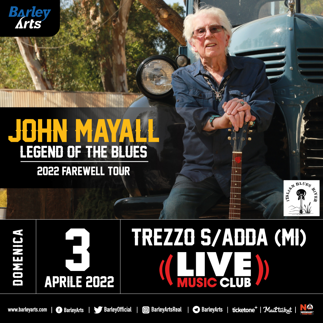 "Featured image for ""JOHN MAYALL Legend of the Blues 2022 il tour di addio al Live Club ad aprile"""