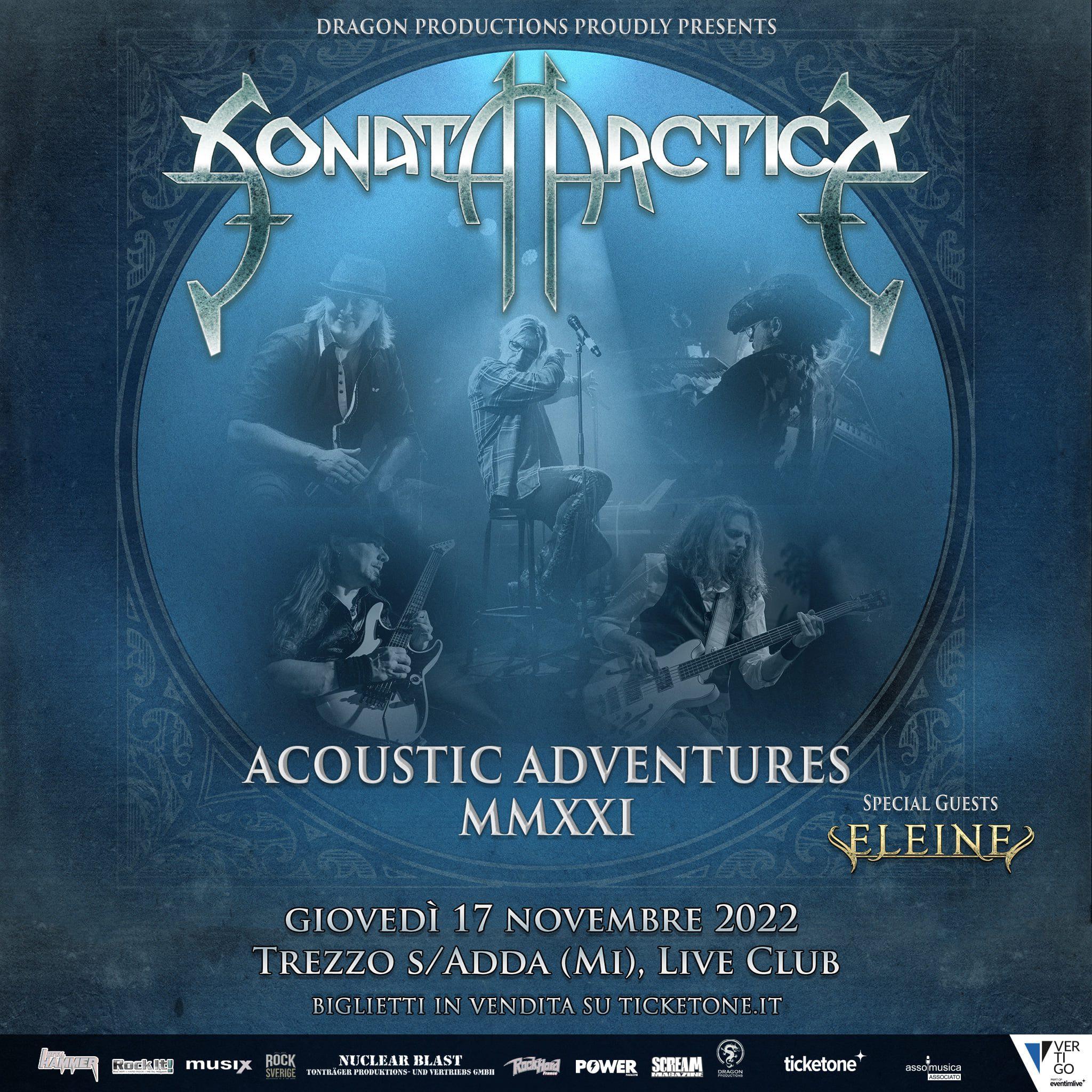 """Featured image for """"Posticipata la data dei Sonata Arctica al 17 novembre 2022"""""""